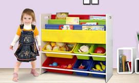 ארגונית צעצועים וספרים לילדים