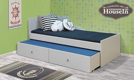 מיטת ילדים מעץ מלא houseIn