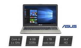 מחשב נייד ASUS עם מסך