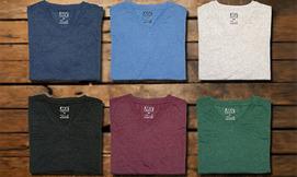 ארבע חולצות טי שירט לגבר