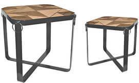 שולחן מרובע דקורטיבי