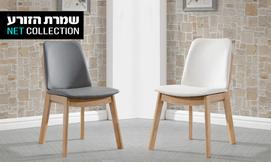 כסא מעץ בוק מלא דגם ברק