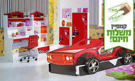 מיטת ילדים בצורת ג'יפ