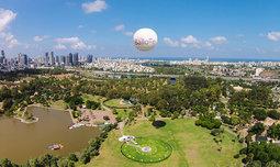 כדור פורח בלב תל אביב