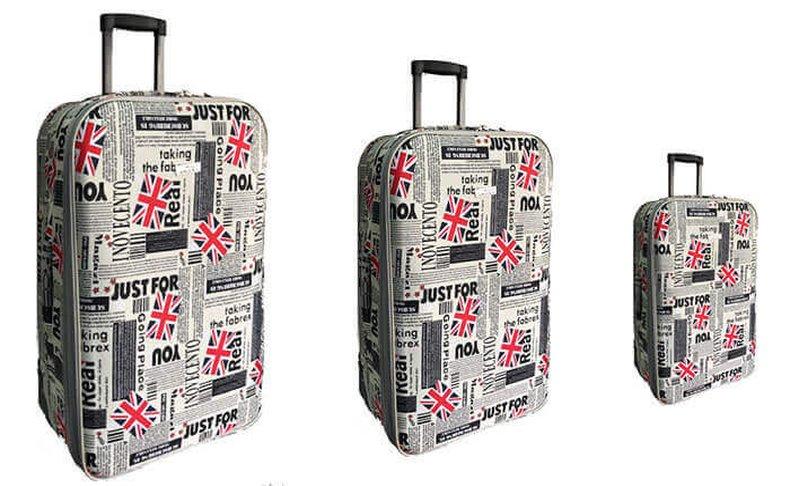 מזוודות מעוצבות בגדלים שונים