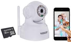 מצלמת IP ממונעת לאבטחה ומעקב