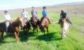 רכיבה על סוסים בחוות צהלה