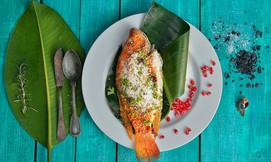 פלמידה בבורסה, דגים ופירות ים