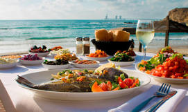 בני הדייג במרינה - ארוחה לזוג