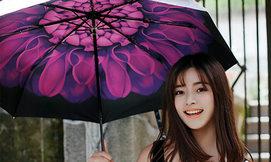 מטריית קיץ עם ציור פנימי