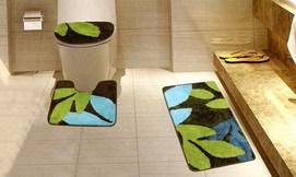 סט 3 שטיחונים לשירותים ולאמבט