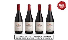 4 בקבוקי יין הר חרמון אדום