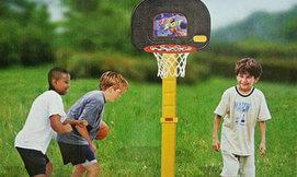 מתקן כדורסל חצר לילדים