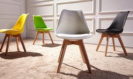 כיסא מעוצב דמוי עור