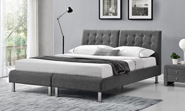 מיטה יהודית זוגית מרופדת