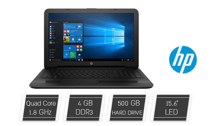 """מחשב נייד hp עם מסך """"15.6 - עד 12 תשלומים!"""