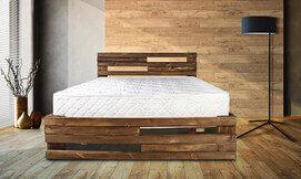 מיטה מעץ מלא עם מזרן אורתופדי