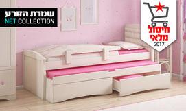 מיטת ילדים מעץ מלא דגם דנה