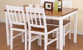 פינת אוכל +4 כסאות עץ